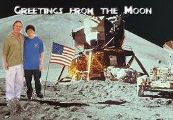 Mike and Frankie on the Moon