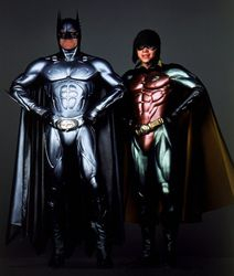 Mike and Frankie as Batman and Robin