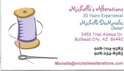 Michelle's Alterations Card