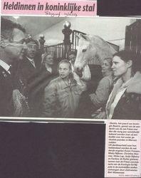 Artikel in de Telegraaf over ons bezoek bij deKoninklijke stallen