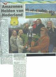 Artikel voorpagina Telegraaf, Held van het jaar 2006