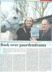 Artikel voorpagina Dagblad v/h Noorden over mijn boek!