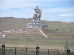 Big Genghis Khan on Horse Monument