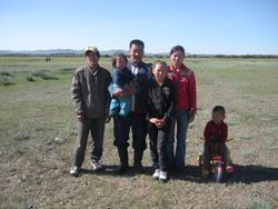 Mongolian Herder and Family