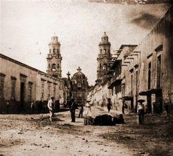 Calle Obispado (Benito Juarez), 1920. Morelia.