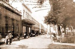 Calle Valladolid, 1910. Morelia.