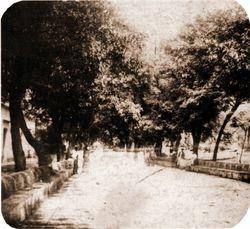 Calzada Fray Antonio de San Miguel, 1900.