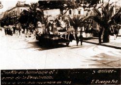 Desfile aniversario de la Revolucion, 1935. Morelia.