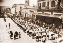 Desfile en Av. Madero, 1941. Morelia.