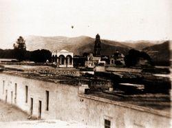 Templo de las Capuchinas, 1900.