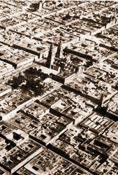 Foto aerea de Morelia, 1936.