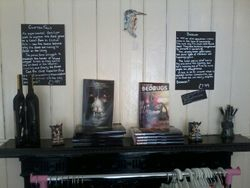 First store in the UK to stock my novels..