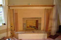 unfinished fireplace