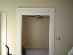 trimmed entrance