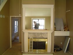 mantel and mirror