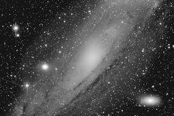 M31 (NGC 224) (Andromeda Galaxy), M32, M110