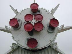 Rocket: Saturn B-1 Rear View