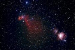 M-42, M-43, B-33, NGC 2024 (Flame Nebula)