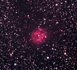 The Cocoon Nebula IC 5146 Zoomed in