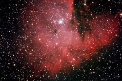 NGC-281 is an Open Cluster and a Emission Nebula
