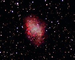 M-1 The Crab Nebula in Taurus