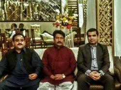 L-R: Sardar Babu Sher Dil Khan Mugheri, Mir Zia-ul-Haq Mugheri, Mir Iqbal Mugheri