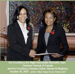 Hunaina Al Mugheri with Governor General of Canada
