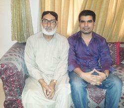 Mir Iqbal with Ahmed Nawaz Mugheri(Deputy Naval Store Officer)