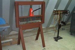 20 ton press brake,power bead roller (owner made)