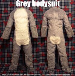 Grey fox bodysuit: 2015