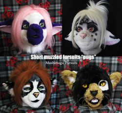 "Short muzzled fursuits ""pugs"""