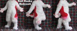 Red And Pink Husky Bodysuit:2012