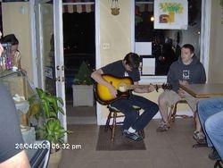 Guitar Player at Espresso Coffee Bar