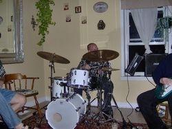 """""""Audioemotif,"""" John Testa, Drummer."""