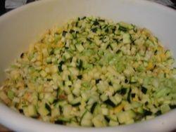 Berenjenas y Calabacaines amarillos y verdes