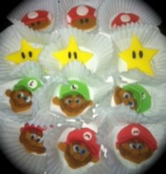 Super Mario Brother's Cupcake Toppers
