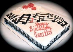 Music Lover's Sheet Cake