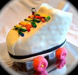 Skate Shaped Cake