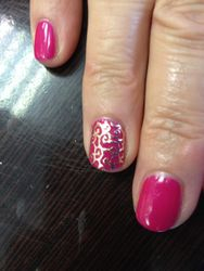 Gelish with Filigrees