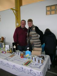 Nandi volunteers manning our cakes stand at the 2009 Christmas Fair