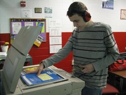 Greg at the copier