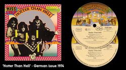 Hotter Than Hell LP - German Issue 1974