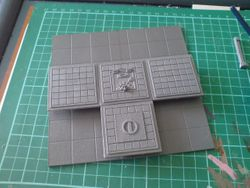 how to make a 3d space hulk board 4