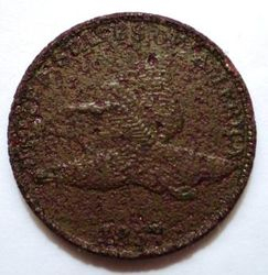 1857 Flying Eagle Cent After Cleaning