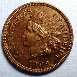 1899 Indian Head Cent-AU?