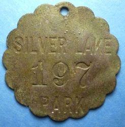 Silver Lake Beach Tag circa 1898-1910