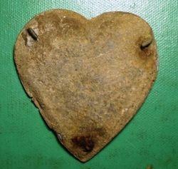 Civil War Era Heart-Shaped Martingale Rosette Back