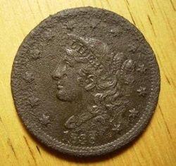 1838 Matron Head Cent