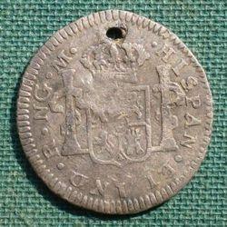 1789 Corolus IV over III Half Reale Reverse
