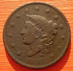 1836 Matron Head Large Cent